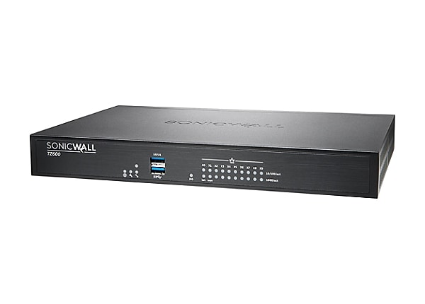 Sonicwall TZ600 - security appliance - with 1 year Dynamic Support 8X5