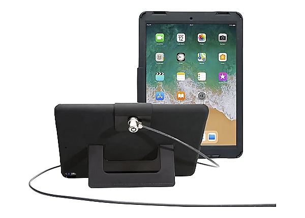 CTA Security Case w/Kickstand & Anti-Theft Cable - back cover for tablet