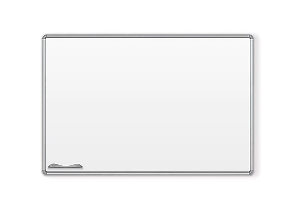 MooreCo Green-Rite Whiteboard with Presidential Trim - Silver