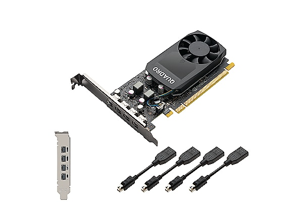 NVIDIA Quadro P1000 - graphics card - 4 GB - Adapters Included