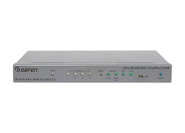 Gefen Ultra HD 600 MHz 1:4 Splitter for HDMI w/ HDR distribution amplifier