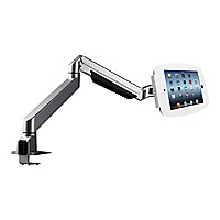 "Compulocks Space Reach iPad 12.9"" Counter Top Articulating Arm White - desk"