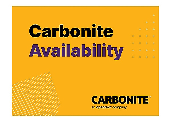 Carbonite Availability for Linux - maintenance (renewal) (3 years) - 1 lice