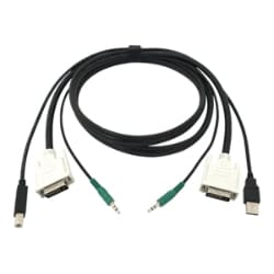 Black Box video / USB / audio cable - 10 ft