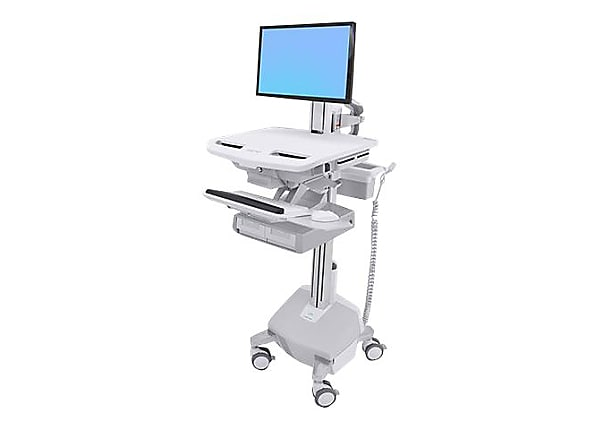 Ergotron StyleView Electric Lift Cart with LCD Pivot, LiFe Powered, 2 Drawe