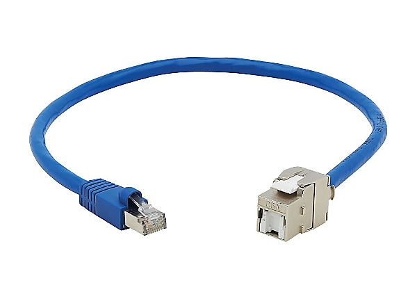 Tripp Lite Cat6 Keystone Jack Cable Assembly Shielded Poe M F Blue 18in N237a F18n Whsh Networking Cables Cdw Com