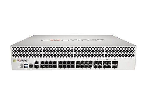 Fortinet FortiGate 1100E - security appliance - with 1 year FortiCare 24X7