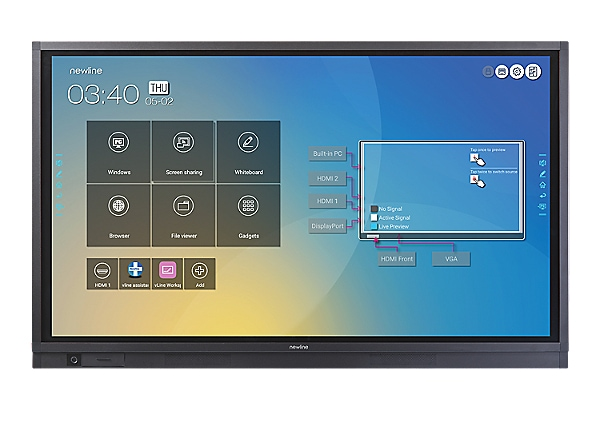 """Newline TRUTOUCH 7519RS 75"""" 4K UHD Interactive Display"""