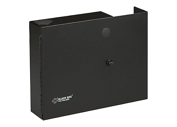 Black Box Fiber Wall Cabinet Open-Style, Unloaded, Accepts 2 Adapter Panels