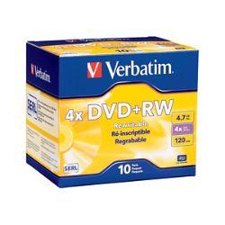 Verbatim DataLifePlus - DVD+RW x 10 - 4.7 GB - storage media