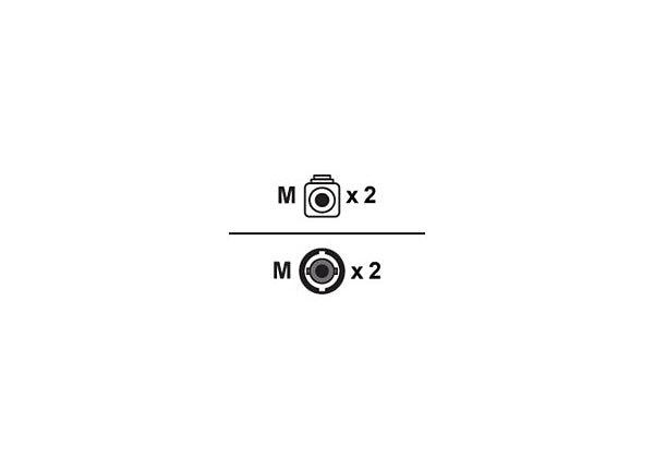Proline 1m LC (M) to ST (M) White OM1 Duplex Fiber OFNR Patch Cable