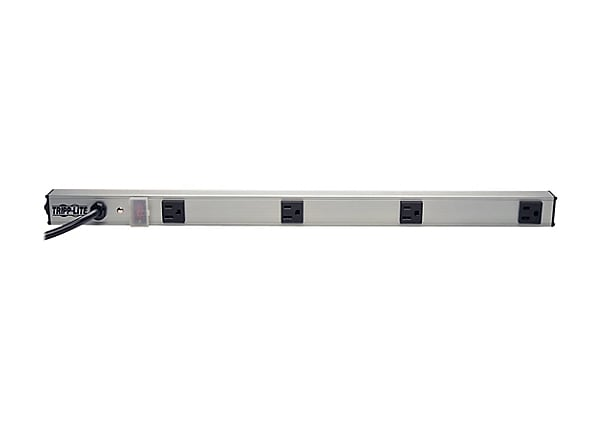 Tripp Lite Power Strip 4-Outlet Vertical 5-15R 6ft Cord 24 Inch 120V