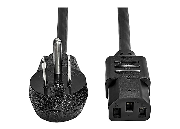 Tripp Lite Computer Power Cord Right-Angle 5-15P to C13 10A 125V 18AWG 15ft