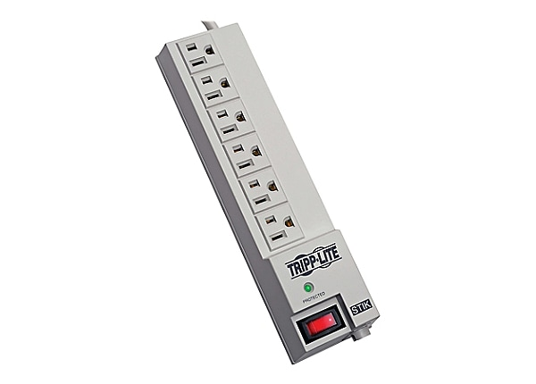 Tripp Lite Surge Protector Power Strip 120V RT Angle 6 Outlet 6' Cord 540 J