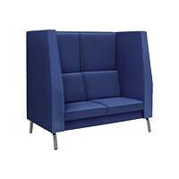 Spectrum High-Back Sofa with Shelf - Grey
