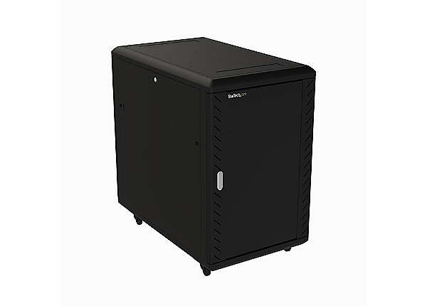 StarTech.com 18U Server Rack Cabinet - Includes Casters and Leveling Feet