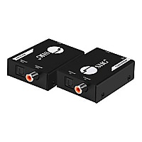 SIIG Digital Audio Extender Over Cat5e/6 Cable with PoC - transmitter and r