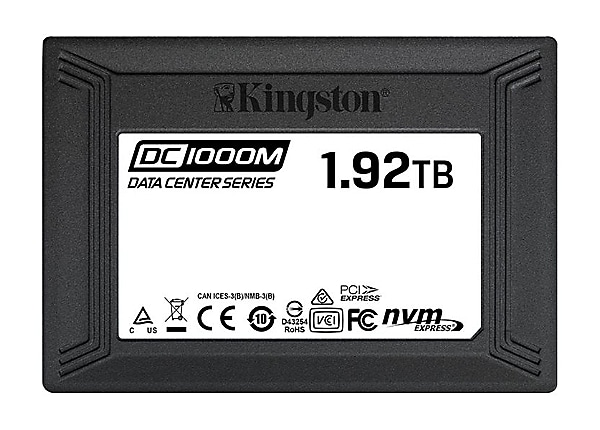 Kingston Data Center DC1000M - solid state drive - 1.92 TB - U.2 PCIe 3.0 x