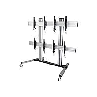 Tripp Lite Quad Screen Mobile TV Video Wall Cart Height-Adjustable 45-55in