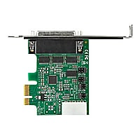 StarTech.com 4 Port PCI Express RS232 Serial Adapter Card - Full Profile