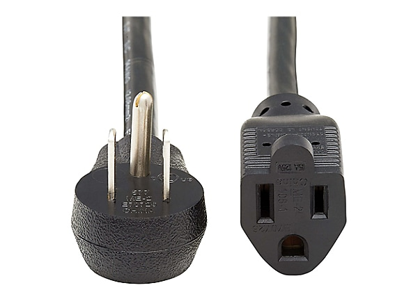Tripp Lite Power Extension Cord Right-Angle 5-15P to 5-15R 16AWG 13A 3ft