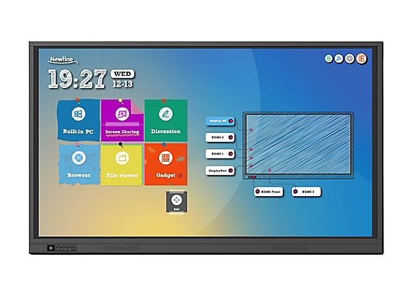 "Newline TruTouch TT-6519RS RS Series - 65"" LED display - 4K"