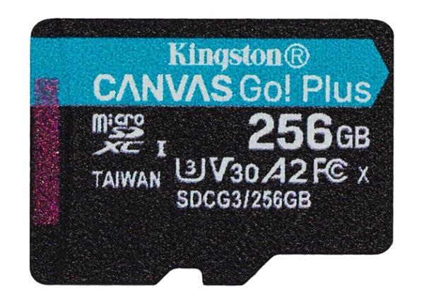 Kingston Canvas Go! Plus - flash memory card - 256 GB - microSDXC UHS-I