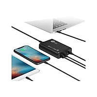 SIIG 100W Dual USB-C PD 3.0 PPS & QC 3.0 Combo Power Charger power adapter
