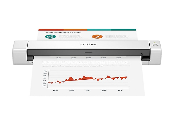 Brother DSmobile DS-640 - sheetfed scanner - portable - USB 3.0