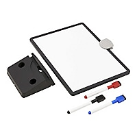 Tripp Lite Magnetic Dry-Erase Whiteboard with Stand, 3 Markers Black Frame