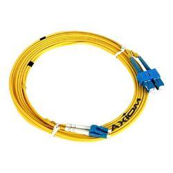 Axiom ST-ST Singlemode Duplex OS2 9/125 Fiber Optic Cable - 1m - Yellow - n