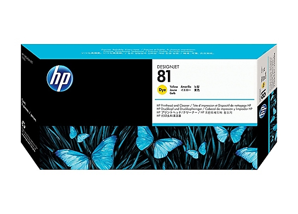 HP 81 - dye-based yellow - printhead with cleaner