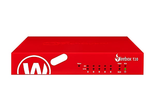 WatchGuard Firebox T20 - security appliance - with 3 years Standard Support