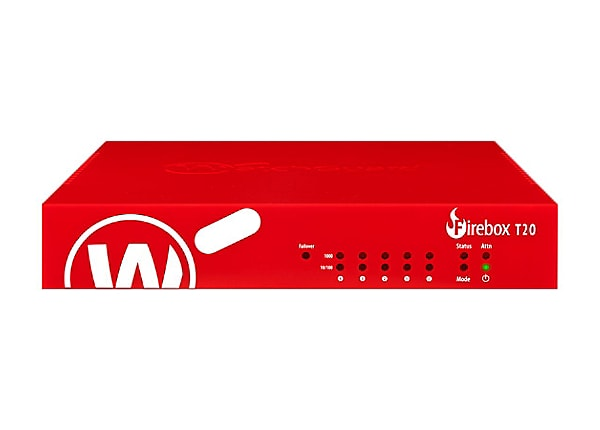 WatchGuard Firebox T20-W - security appliance - with 3 years Basic Security
