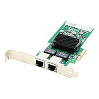 AddOn Intel I350T2 Comparable Dual RJ-45 Port PCIe NIC - network adapter -