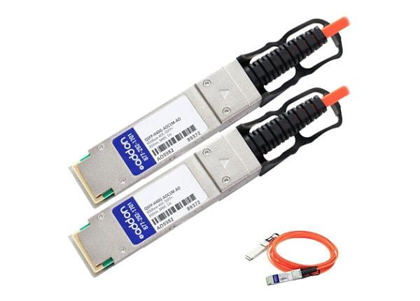 AddOn 1m Cisco Compatible QSFP+ AOC - 40GBase direct attach cable - 1 m