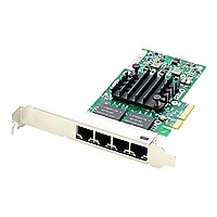 AddOn HP 647594-B21 Comparable Quad RJ-45 Port PCIe NIC - network adapter
