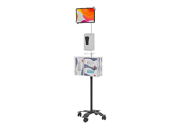CTA Security Sanitizing Station Mobile Floor Stand w/Gooseneck - cart
