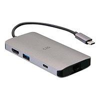 C2G USB C Dock with HDMI, USB, Ethernet, SD, USB C & Power up to 100W