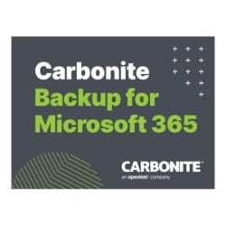 Carbonite Backup for Microsoft 365 Capacity Edition - subscription license