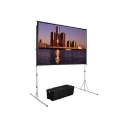 Da-Lite Fast-Fold Deluxe Screen System Wide Format - projection screen - 17