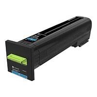 Lexmark - Extra High Yield - cyan - original - toner cartridge - LCCP