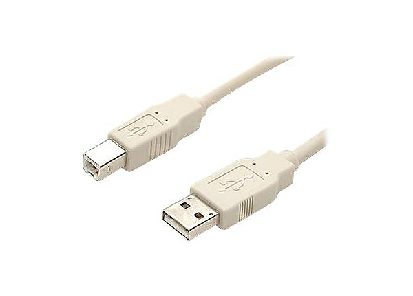 StarTech.com 3 ft Beige A to B USB 2.0 Cable - M/M - USB cable - 0.9 m