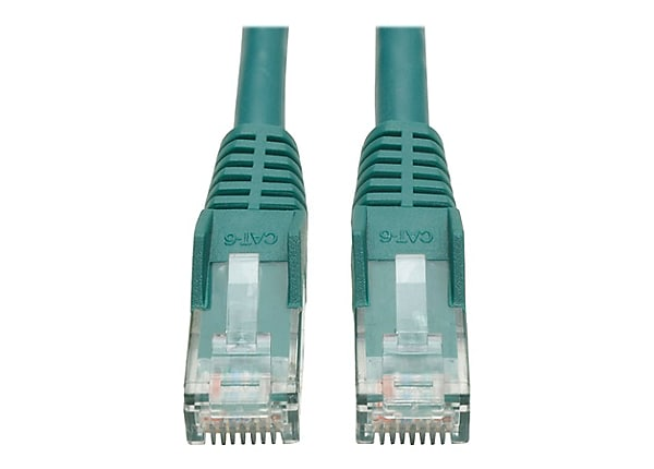 Tripp Lite 7ft Cat6 Gigabit Snagless Molded Patch Cable RJ45 M/M Green 7'