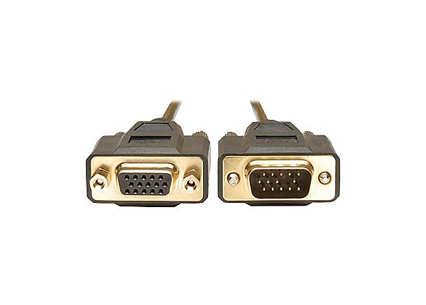 Tripp Lite 6ft VGA Monitor Extension Gold Cable Shielded HD15 M/F 6'