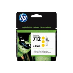 HP 712 - 3-pack - yellow - original - DesignJet - ink cartridge