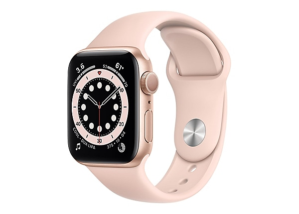Apple Watch Series 6 (GPS) - gold aluminum - smart watch with sport band -