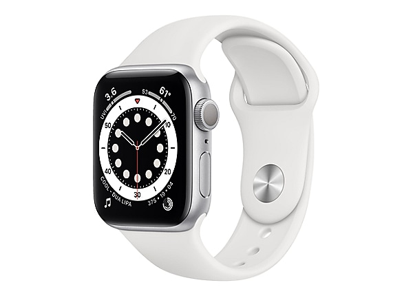 Apple Watch Series 6 (GPS) - silver aluminum - smart watch with sport band