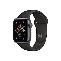 Apple Watch SE (GPS) - space gray aluminum - smart watch with sport band -