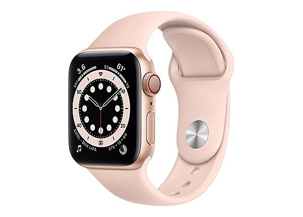 Apple Watch Series 6 (GPS + Cellular) - gold aluminum - smart watch with sp